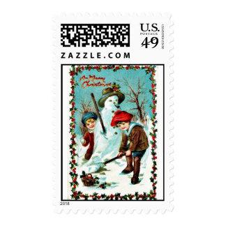 Navidad del vintage sellos