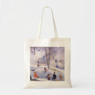 Navidad del vintage, Sledding, Central Park