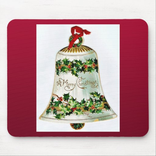 Navidad del vintage tapete de raton