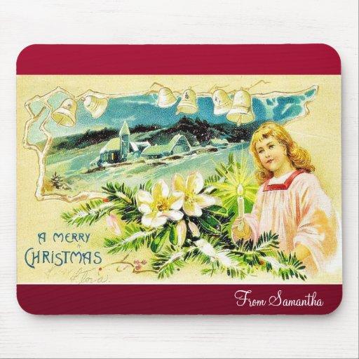 Navidad del vintage tapetes de ratones