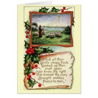 Navidad del vintage felicitación
