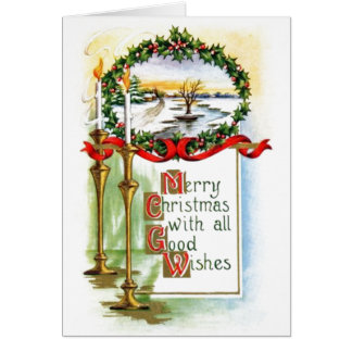 Navidad del vintage tarjeta