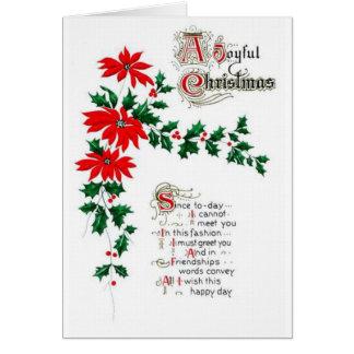 Navidad del vintage felicitaciones
