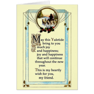 Navidad del vintage tarjetas