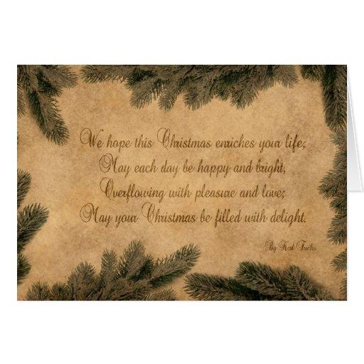 Navidad del vintage - tarjeta de felicitación