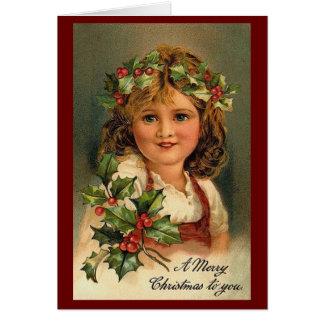 Navidad del vintage tarjeta de felicitación