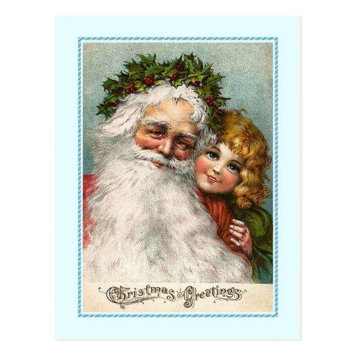 Navidad del vintage tarjeta postal