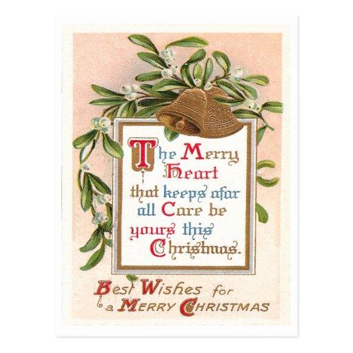 Navidad del vintage tarjetas postales