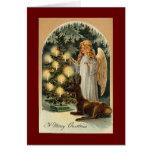 Navidad del vintage tarjetón