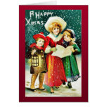 Navidad del vintage tarjeton