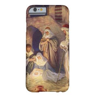 Navidad del vintage, tres pastores y bebé Jesús Funda De iPhone 6 Barely There