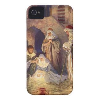 Navidad del vintage, tres pastores y bebé Jesús Funda Para iPhone 4