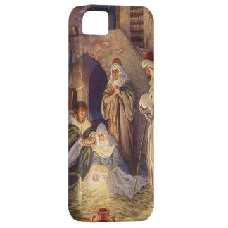 Navidad del vintage, tres pastores y Jesús iPhone 5 Cobertura