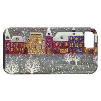 Navidad del vintage, trineo abierto del caballo de iPhone 5 carcasas