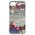 Navidad del vintage, trineo abierto del caballo de funda para iPhone SE/5/5s