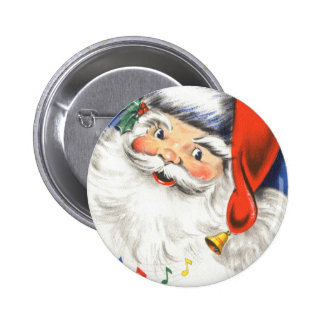 Navidad del vintage, una música alegre de Papá Pin Redondo 5 Cm