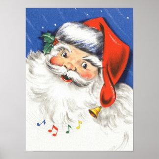 Navidad del vintage, una música alegre de Papá Póster