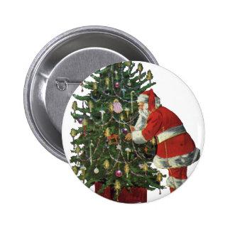 Navidad del vintage velas del Lit de Papá Noel en Pins