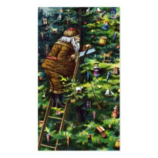 Navidad del vintage, Victorian Papá Noel con el Tarjetas De Visita