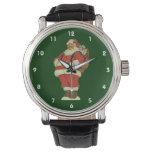 Navidad del vintage, Victorian Papá Noel con los Relojes De Pulsera
