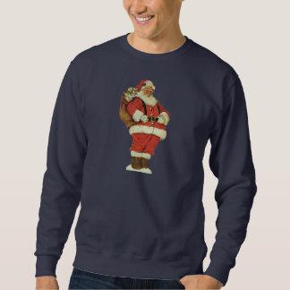 Navidad del vintage, Victorian Papá Noel con los Sudadera