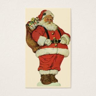 Navidad del vintage, Victorian Papá Noel con los Tarjeta De Negocios