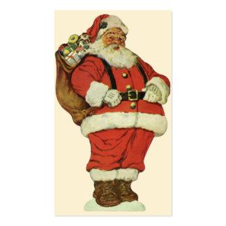 Navidad del vintage, Victorian Papá Noel con los Tarjetas De Visita