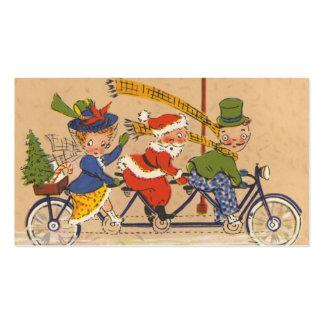 Navidad del vintage, Victorian Papá Noel en la Tarjeta De Visita
