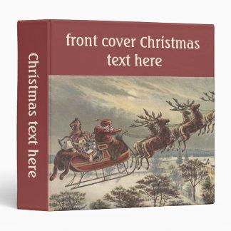 Navidad del vintage Victorian Papá Noel en trineo