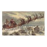 Navidad del vintage, Victorian Papá Noel en trineo Plantillas De Tarjeta De Negocio