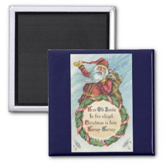Navidad del vintage, Victorian Papá Noel Imán De Nevera