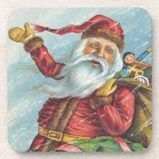 Navidad del vintage, Victorian Papá Noel Posavaso