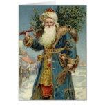 Navidad del vintage, Victorian Papá Noel Tarjetas