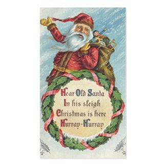 Navidad del vintage, Victorian Papá Noel Tarjetas De Visita
