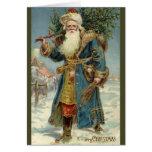 Navidad del vintage, Victorian Papá Noel Tarjeton