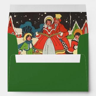 Navidad del vintage, villancicos de la familia de sobres