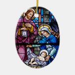 Navidad del vitral ornamento de navidad