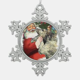 Navidad del Wolfhound irlandés Adornos