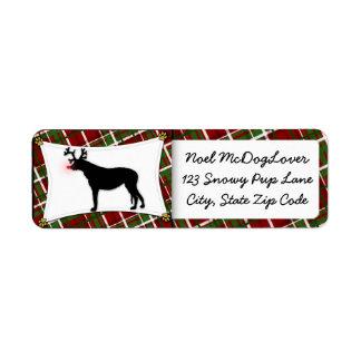 Navidad del Wolfhound irlandés Etiquetas De Remite