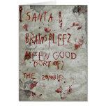 navidad del zombi tarjeta