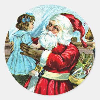 Navidad Delite Pegatina Redonda