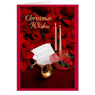 Navidad, deseos tarjeta de felicitación
