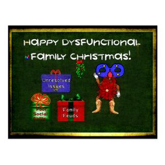 Navidad disfuncional de la familia postales