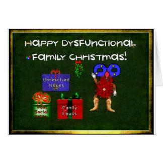 Navidad disfuncional de la familia tarjeta de felicitación