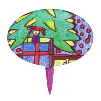 Navidad diversión regalos debajo del árbol palillos de tarta