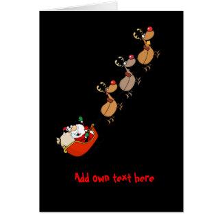 Navidad divertida del dibujo animado de Santa Tarjeta De Felicitación