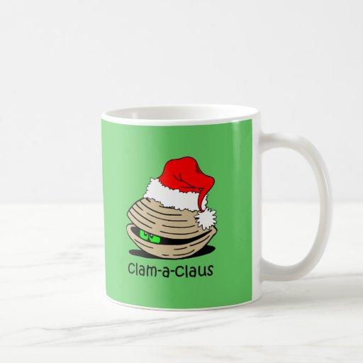 Navidad divertido de la almeja tazas