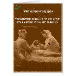 Navidad divertido de la esposa tarjeta de felicitación