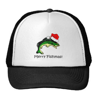 Navidad divertido de la pesca gorras
