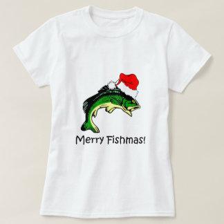 Navidad divertido de la pesca playera